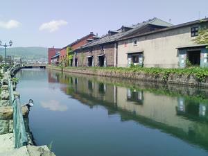 雪のない小樽運河もいいねぇ。